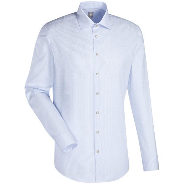 Jacques Britt SLIM FIT Hemd STRUKTUR hellblau mit Kent Kragen in schmaler Schnittform