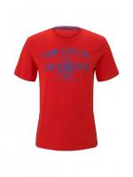 Tom Tailor T-Shirt rot in klassischer Schnittform