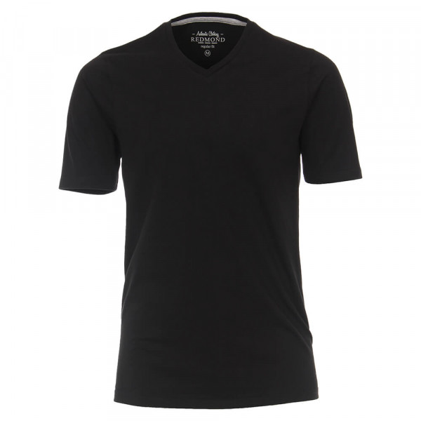 Redmond T-Shirt schwarz in klassischer Schnittform