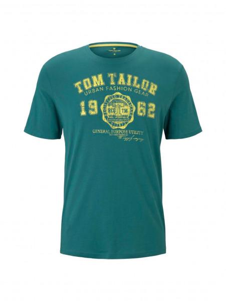 Tom Tailor T-Shirt grün in klassischer Schnittform