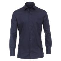 CASAMODA Hemd MODERN FIT STRUKTUR dunkelblau mit Kent Kragen in moderner Schnittform