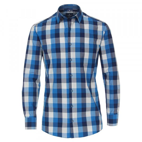 Redmond Hemd REGULAR FIT UNI POPELINE hellblau mit Kent Kragen in klassischer Schnittform