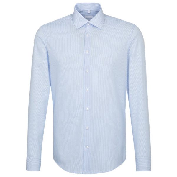 Seidensticker SLIM FIT Hemd OFFICE hellblau mit Business Kent Kragen in schmaler Schnittform