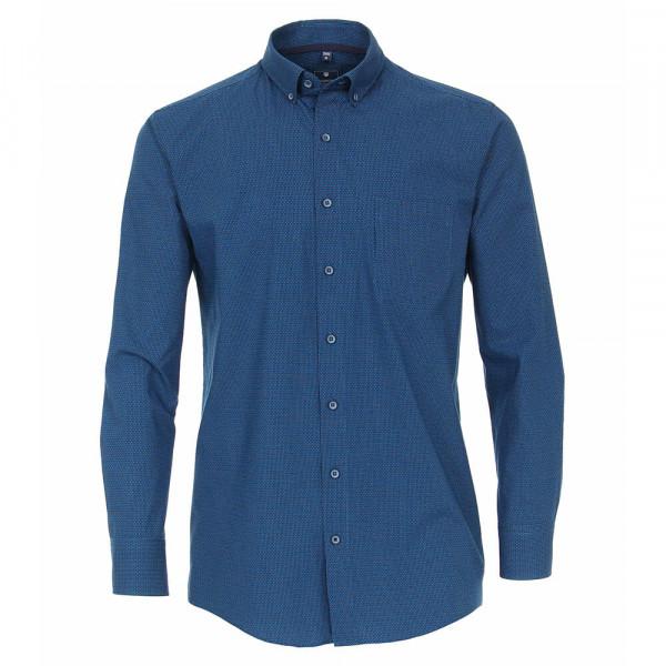 Redmond Hemd REGULAR FIT UNI POPELINE hellblau mit Button Down Kragen in klassischer Schnittform