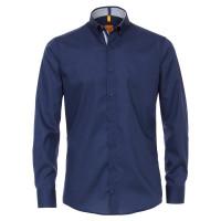 Redmond MODERN FIT Hemd UNI STRETCH dunkelblau mit Button Down Kragen in moderner Schnittform