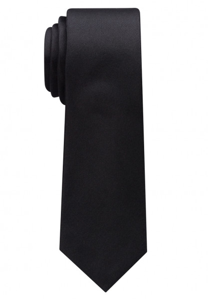 Eterna Krawatte schwarz unifarben