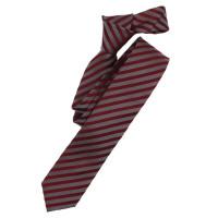 Venti Krawatte dunkelrot gestreift