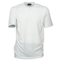 CASAMODA T-Shirt in weiß mit V-Ausschnitt im Doppelpack