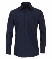 CASAMODA Hemd COMFORT FIT UNI POPELINE dunkelblau mit Kent Kragen in klassischer Schnittform
