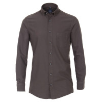 Redmond COMFORT FIT Hemd STRUKTUR anthrazit mit Button Down Kragen in klassischer Schnittform