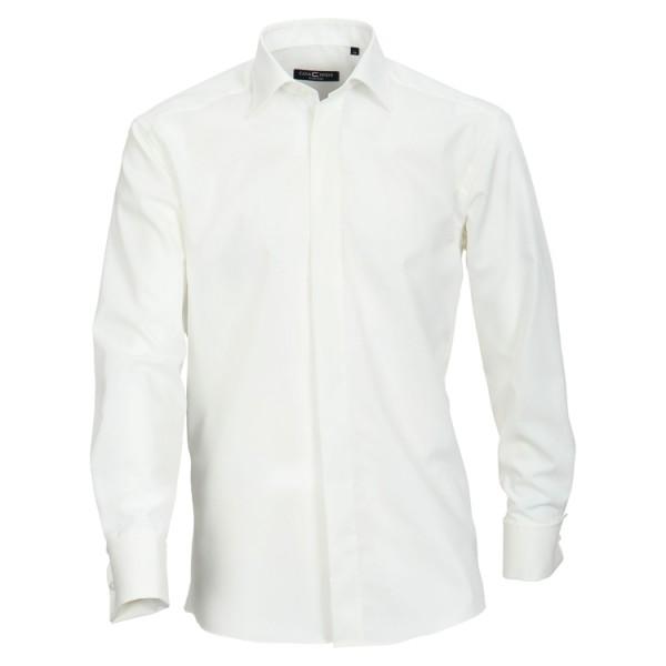 """CASAMODA Hemd """"Popeline"""" beige mit Kent Kragen und verdeckter Knopfleiste in klassischer Schnittform"""