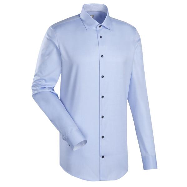 Jacques Britt CUSTOM FIT Hemd TWILL hellblau mit Kent Kragen in moderner Schnittform