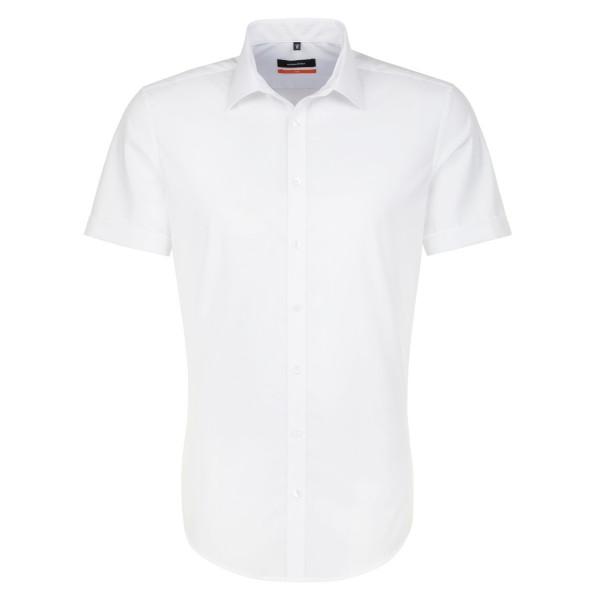 Seidensticker SLIM FIT Hemd UNI POPELINE weiss mit Business Kent Kragen in schmaler Schnittform