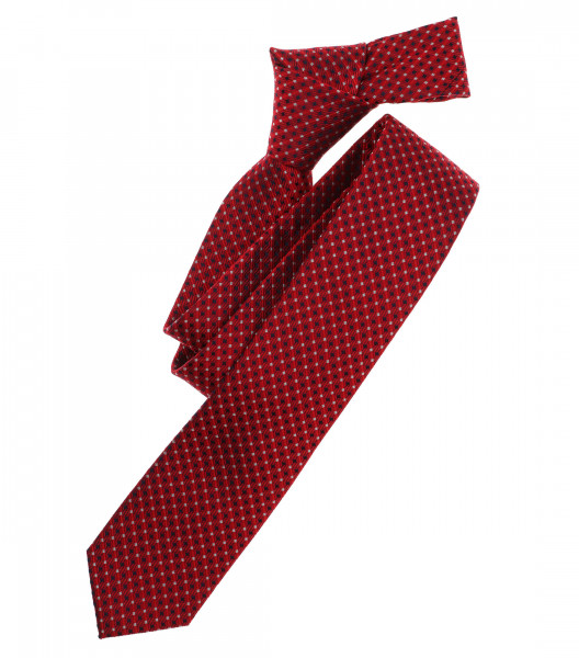 Venti Krawatte rot gemustert