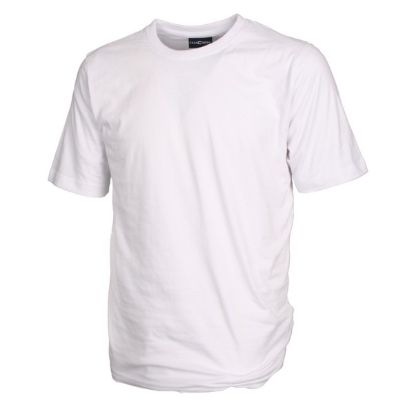 CASAMODA T-Shirt in weiß mit Rundhals im Doppelpack
