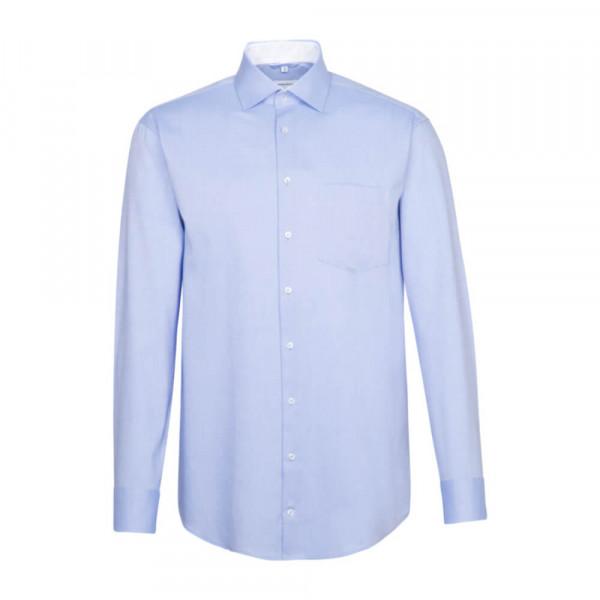 Seidensticker Hemd REGULAR FEIN OXFORD hellblau mit Light Kent Kragen in moderner Schnittform