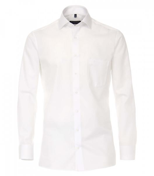 CASAMODA Hemd COMFORT FIT TWILL weiss mit Kent Kragen in klassischer Schnittform