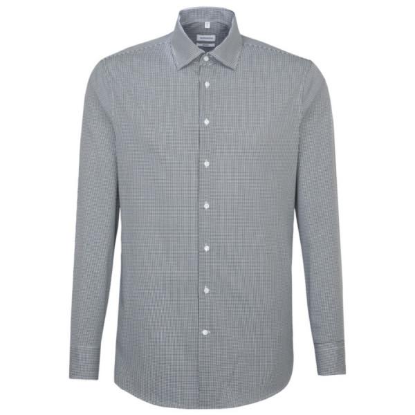 Seidensticker SHAPED Hemd OFFICE dunkelblau mit Business Kent Kragen in moderner Schnittform
