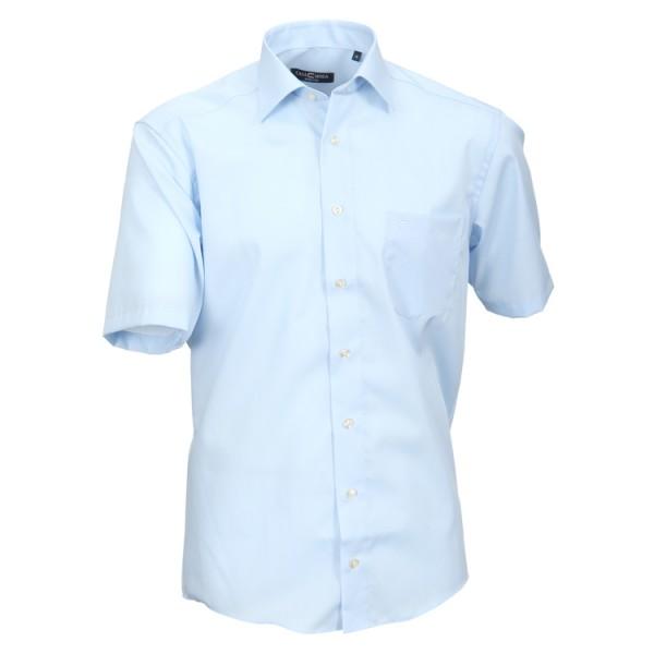 CASAMODA Hemd COMFORT FIT UNI POPELINE hellblau mit Kent Kragen in klassischer Schnittform