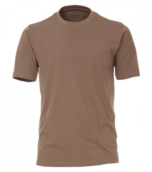 CASAMODA T-Shirt hellbraun in klassischer Schnittform