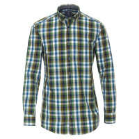 Redmond COMFORT FIT Hemd PRINT grün mit Button Down Kragen in klassischer Schnittform