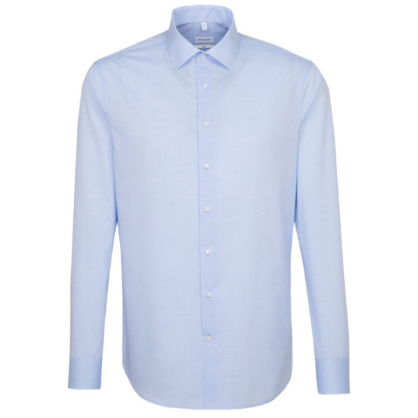 Seidensticker SLIM FIT Hemd UNI POPELINE hellblau mit Business Kent Kragen in schmaler Schnittform