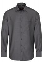 Eterna Hemd MODERN FIT STRUKTUR schwarz mit Modern Kent Kragen in moderner Schnittform