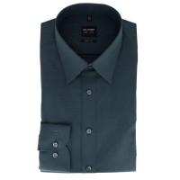 OLYMP Level Five body fit Hemd CHAMBRAY anthrazit mit New York Kent Kragen in schmaler Schnittform