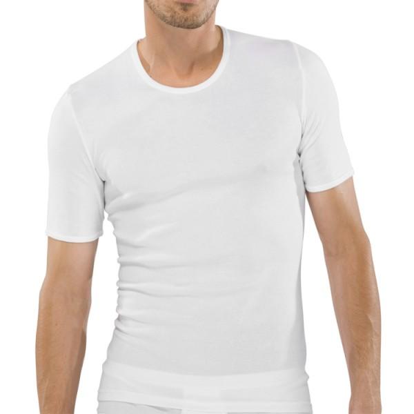 """Schiesser """"ORIGINAL FEINRIPP"""" weißes T-Shirt"""