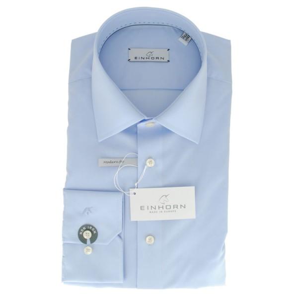 """Einhorn Hemd """"Jamie Slim"""" hellblau mit Kent Kragen in moderner Schnittform"""