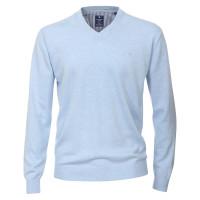 Redmond Pullover hellblau in klassischer Schnittform