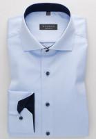 Eterna Hemd COMFORT FIT TWILL hellblau mit Hai Kragen in klassischer Schnittform