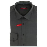 Marvelis BODY FIT Hemd PRINT anthrazit mit New York Kent Kragen in schmaler Schnittform
