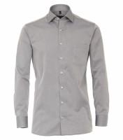 CASAMODA Hemd COMFORT FIT TWILL grau mit Kent Kragen in klassischer Schnittform