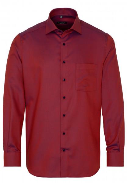 Eterna Hemd MODERN FIT STRUKTUR orange mit Modern Kent Kragen in moderner Schnittform