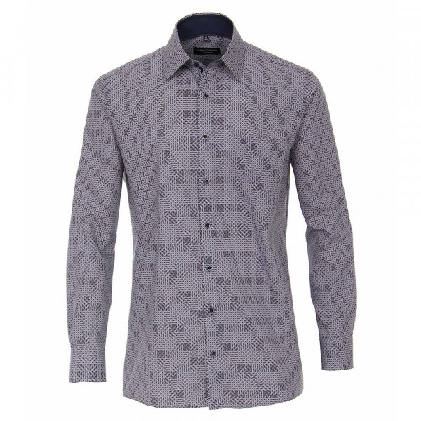 CASAMODA Hemd COMFORT FIT PRINT dunkelblau mit Kent Kragen in klassischer Schnittform