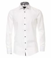 Venti Hemd MODERN FIT STRUKTUR weiss mit Kent Kragen in moderner Schnittform
