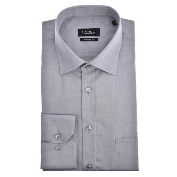 """Hatico Hemd """"Chambrey"""" grau mit Kent Kragen in klassischer Schnittform"""