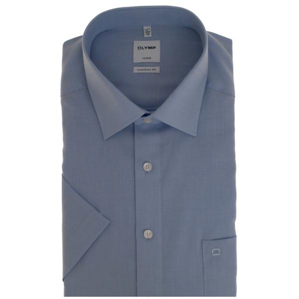 OLYMP Luxor comfort fit Hemd AIRCON hellblau mit New Kent Kragen in klassischer Schnittform