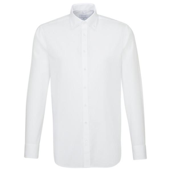 Seidensticker SLIM FIT Hemd UNI POPELINE weiss mit Button Down Kragen in schmaler Schnittform