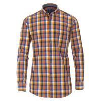 Redmond COMFORT FIT Hemd PRINT orange mit Button Down Kragen in klassischer Schnittform