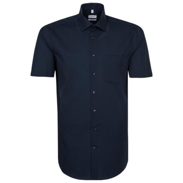 Seidensticker REGULAR Hemd UNI POPELINE dunkelblau mit Business Kent Kragen in moderner Schnittform