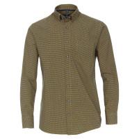 Redmond Hemd REGULAR FIT UNI POPELINE gelb mit Button Down Kragen in klassischer Schnittform
