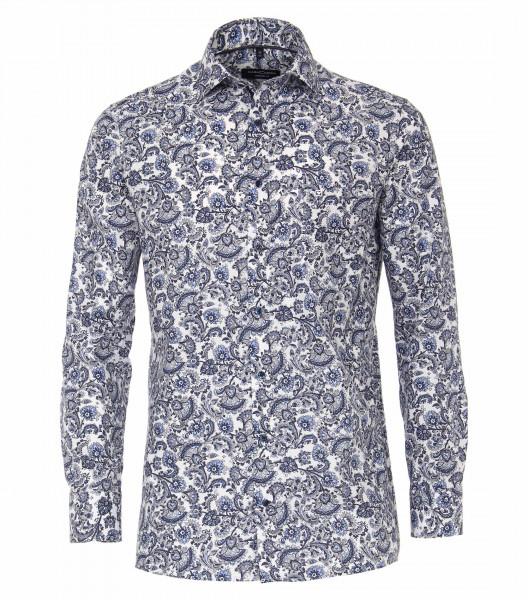 CASAMODA Hemd COMFORT FIT PRINT hellblau mit Kent Kragen in klassischer Schnittform