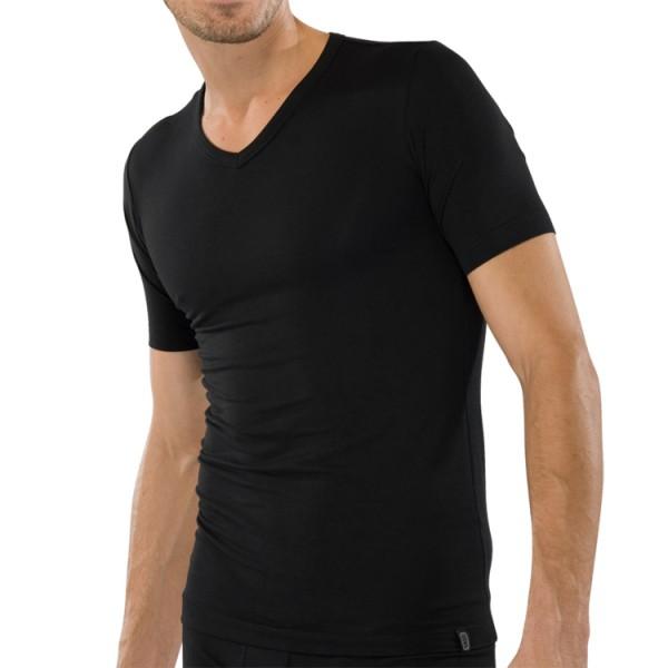 """Schiesser """"95/5"""" schwarzes T-Shirt"""