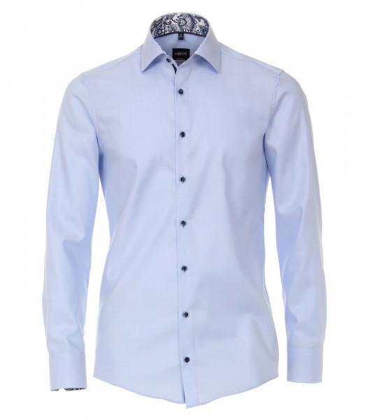 Venti Hemd MODERN FIT STRUKTUR hellblau mit Kent Kragen in moderner Schnittform