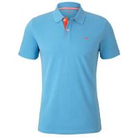 Tom Tailor Poloshirt hellblau in klassischer Schnittform