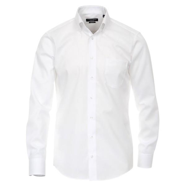 """CASAMODA Hemd """"Popeline"""" weiß mit Button-Down Kragen in moderner Schnittform"""