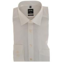 OLYMP Luxor modern fit Hemd UNI POPELINE beige mit New Kent Kragen in moderner Schnittform