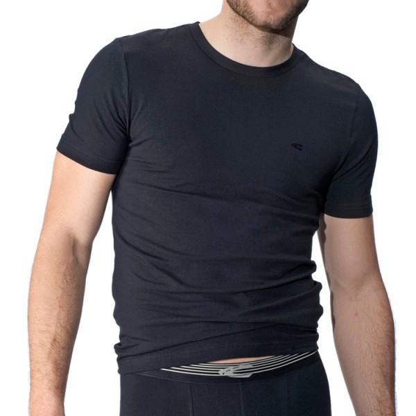 """Camel Active """"CA UNDERWEAR 20"""" schwarze T-Shirts im Doppelpack"""